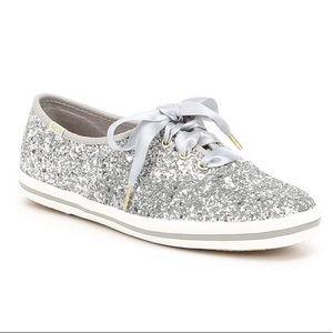 ⭐️NEW⭐️KEDS | Kate Spade Silver Glitter Sneaker